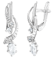 Серебряные серьги с фианитами Арфа SLX--С2Ф/039