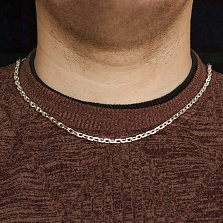 Серебряная якорная цепь Айвенго, 4мм