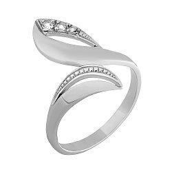 Серебряное кольцо с фианитами 000025780