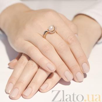Золотое кольцо с жемчугом Магия SG--11333601