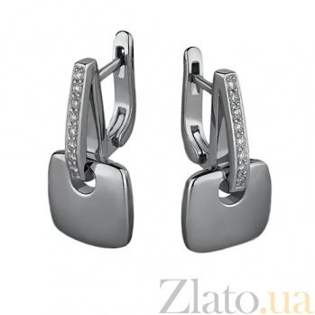 Серебряные серьги с бриллиантами Милос 79200199