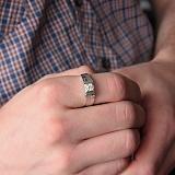 Золотой перстень Светлый рыцарь с бриллиантами