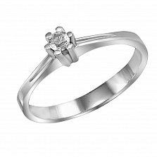 Кольцо из белого золота Помолвка с бриллиантом