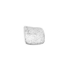 Серебряная серьга-пуссета Фанк в стиле минимализм