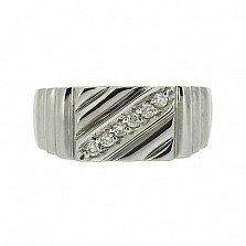 Серебряный перстень с бриллиантами Нино