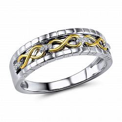 Обручальное кольцо Миранда из желтого и белого золота с бриллиантами