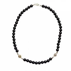 Ожерелье из агата Ночное рандеву