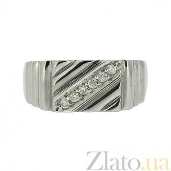 Серебряный перстень с бриллиантами Нино ZMX--RD-1410-Ag_K