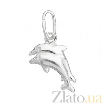 Серебряная подвеска Дельфины LEL--62117