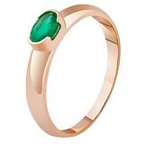 Золотое кольцо с изумрудом Богиня весны