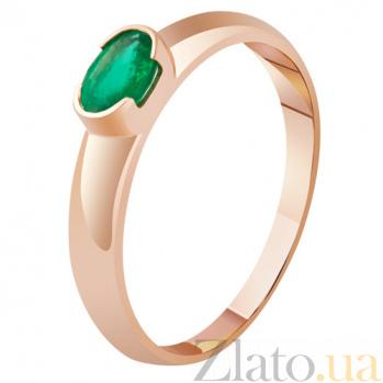 Золотое кольцо с изумрудом Богиня весны KBL--К1866/крас/изум