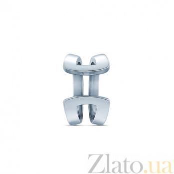 Серебряная серьга-кафф Параллели 000037134