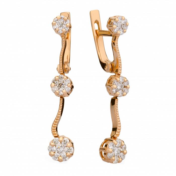 Золотые серьги с бриллиантами Горислава 000030555