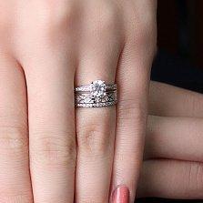 Серебряное кольцо Виалис с фианитами