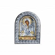 Серебряная икона Божьй Матери Семистрельной