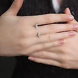 Серебряное кольцо Крылья с фианитами
