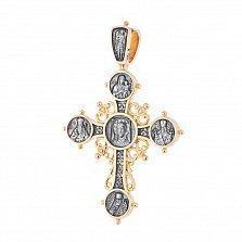 Серебряный крест Аурум с позолотой и чернением