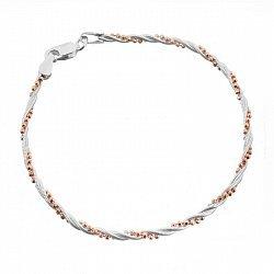 Серебряный браслет с позолотой 000026323