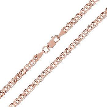 Срібний ланцюжок з позолотою, 5 мм 000071977