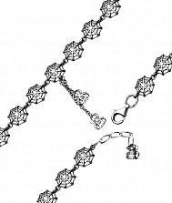 Серебрянный браслет Паутинка с чернением