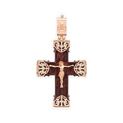 Крест из дерева и красного золота 000145914