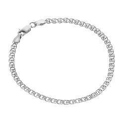 Серебряный браслет с родием, 4,5 мм 000027826
