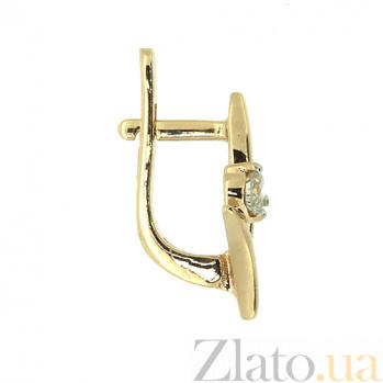 Золотые серьги с бриллиантами Хельга ZMX--ED-6776_K