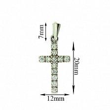 Золотой декоративный крестик с бриллиантами Мадея
