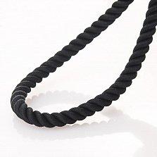 Шелковый шнурок Намил с узорной серебряной застежкой