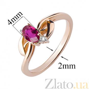 Кольцо из красного золота с рубином Таинственный взгляд TRF--1121568н/руб