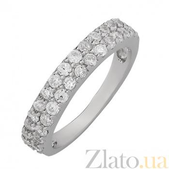 Серебряное кольцо с фианитами  000015048