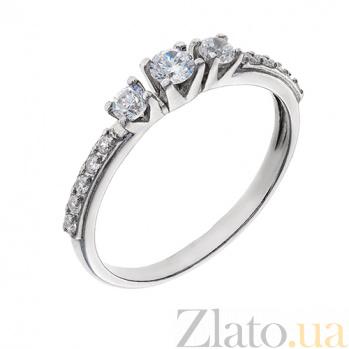 Серебряное кольцо с фианитами Арлин AUR--71857бau