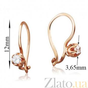 Золотые сережки Услада с фианитами EDM--С0336