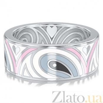 Обручальное кольцо из белого золота Талисман: Гармонии 3303