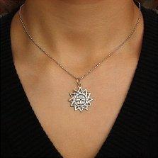 Серебряный кулон Звезда Эрцгаммы с чернением