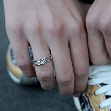 Серебряное кольцо Rattle