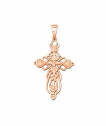 Узорный крестик из красного золота 000130979