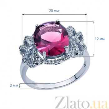 Серебряное кольцо с вишневым цирконом Гардения AQA-R0405Rb