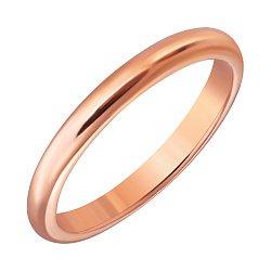 Серебряное обручальное кольцо позолоченное 000015015
