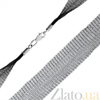 Шелковый шнурок черного цвета Вуаль 000020728
