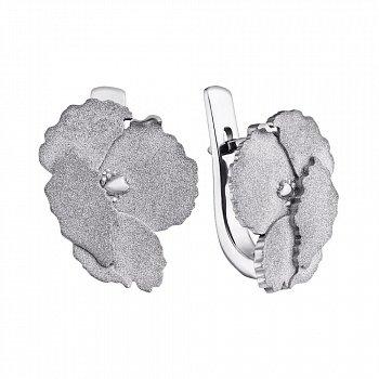 Серебряные серьги Маки 000019580