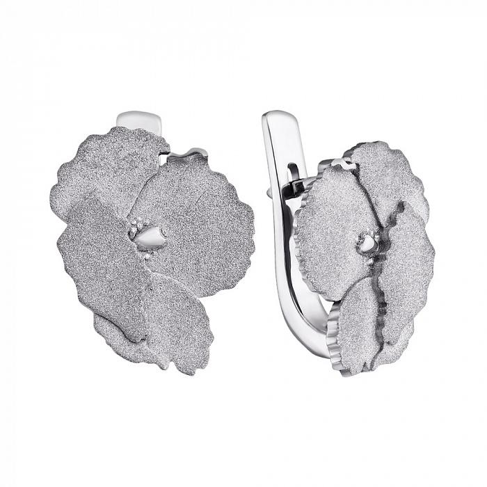 Серебряные серьги Маки Маки