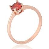 Позолоченное серебряное кольцо с цирконием Беллатриса