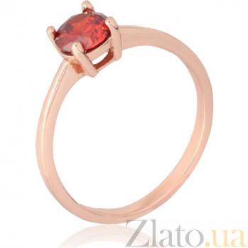Позолоченное серебряное кольцо с цирконием Беллатриса 000028209