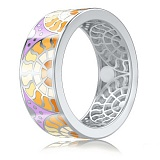 Обручальное кольцо из белого золота Талисман: Счастья