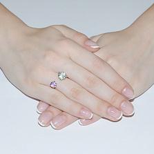 Серебряное кольцо Акварель