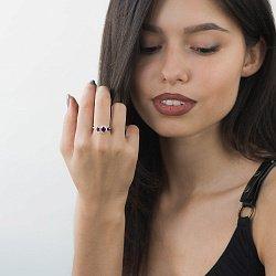 Золотое кольцо с рубинами и бриллиантами 000060160