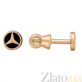 Золотые серьги-пуссеты Мобиль TNG--500042Е