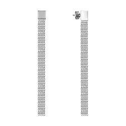 Серьги-подвески из белого золота 000138430