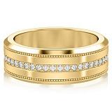 Обручальное кольцо из желтого золота Тайна: Бесконечность